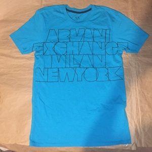 Ax Armani exchange blue t shirt